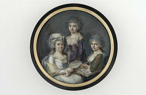Trois femmes personnifiant la Poésie, la Peinture et la Musique