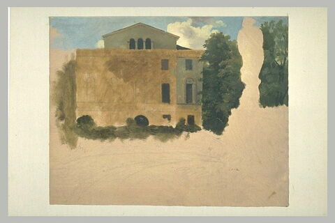 Etude de façade, dite vue d'une villa romaine