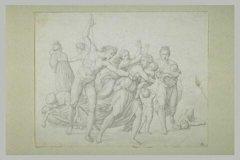 Etude d'après 'Le Massacre des Innocents', gravure de (...) d'après Raphaël