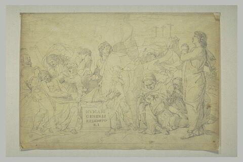 Copie d'après la Mise au Tombeau d'Andrea Mantegna