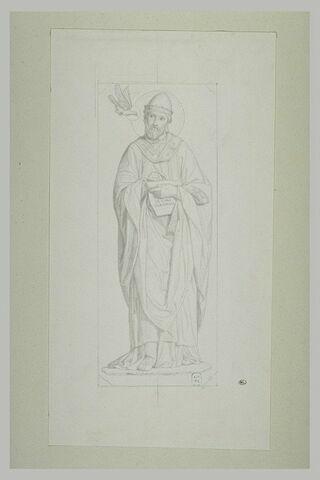 Saint Grégoire le Grand, présenté de face dans un encadrement octogonal
