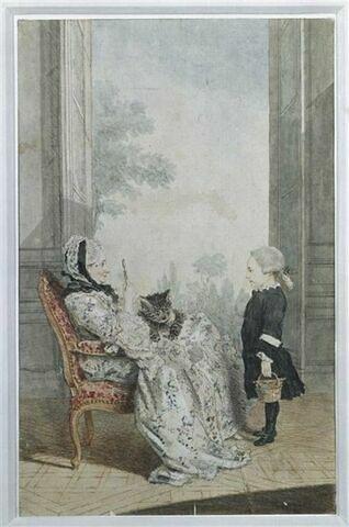 """Philippe-Angélique de Froissy, comtesse de Ségur (vers 1702-1785) et son petit-fils Joseph-Alexandre, vicomte de Ségur, surnommé le """"petit gaillard"""" (1758-1805)"""