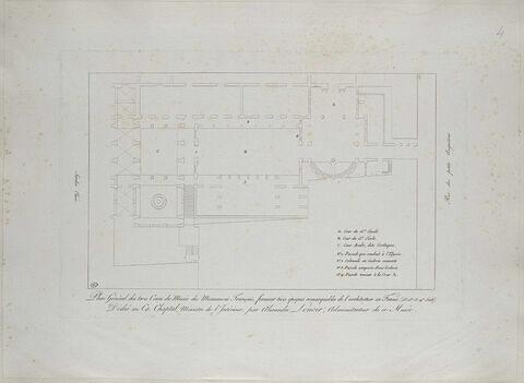 Plan du Musée des Monuments Français