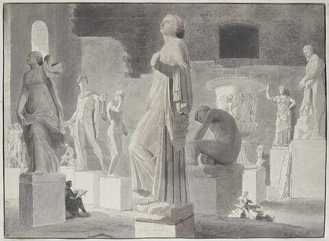 Salle de statues et de vases antiques