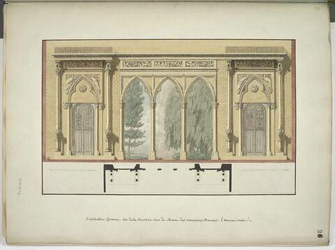 Vue de la troisième cour du Musée des Monuments Français