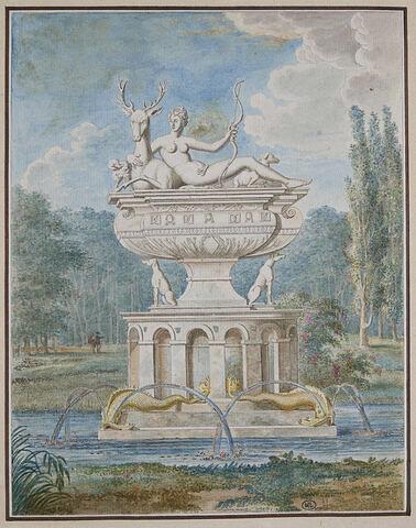 Fontaine du château d'Anet, de Jean Goujon, représentant Diane Chasseresse