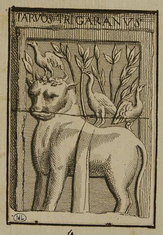 Bas-relief d'autel avec le taureau du zodiaque