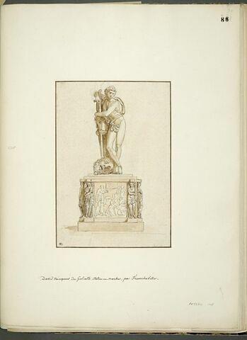 David vainqueur de Goliath par Francheville