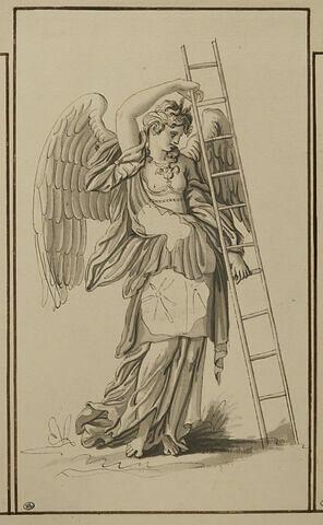 Ange portant l'échelle