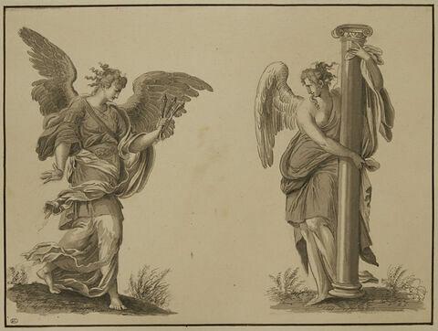 Ange portant les clous et ange portant la colonne