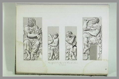 Bas-reliefs de l'attique de la cour du Louvre
