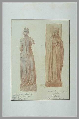 Statues provenant du couvent des Cordeliers