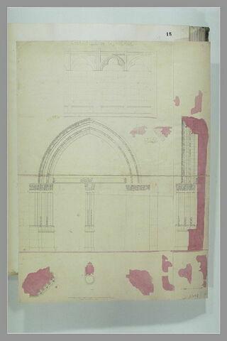 Relevés de la chapelle de la Vierge à Saint-Germain-des-Prés