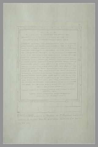 Epitaphe latine relevée sur le tombeau de Le Jay