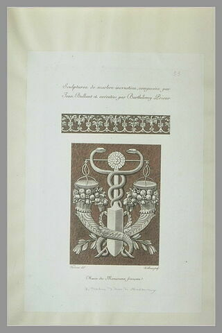 Motif décoratif sculpté du tombeau d'Anne de Montmorency