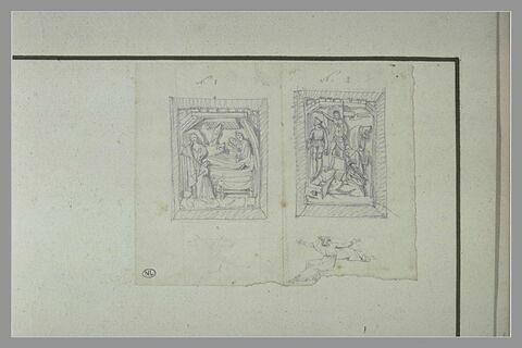 Bas-reliefs avec la Nativité et la Résurrection