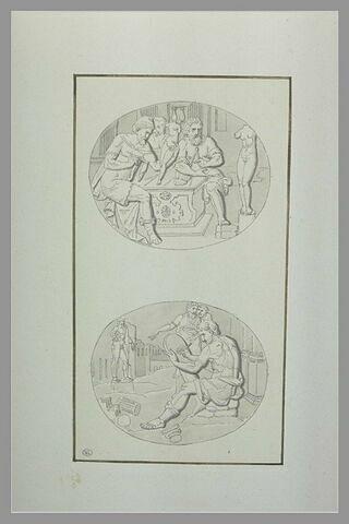 Motifs de l'urne funéraire contenant le coeur de François Ier