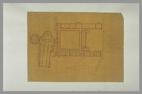 Plan de l'abbaye de Saint-Denis