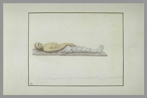 Les restes de Turenne, exhumés de son tombeau en 1793