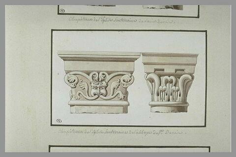 Chapiteaux de l'abbaye de Saint-Denis