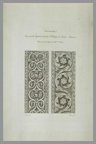 Ornements de rinceaux provenant de l'abbaye de Saint-Denis