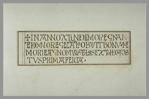 Inscription latine