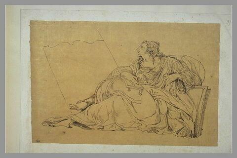 Femme assise, lisant