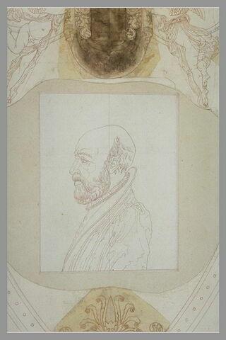 Portrait de Philibert De l'Orme sur le tombeau de François Ier