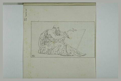 Vieillard écrivant