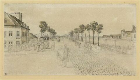 Route pavée à l'entrée de Paris