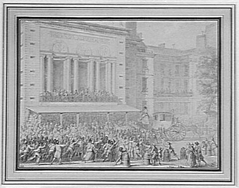 Le Peuple faisant fermer les portes de l'Opéra, le 12 juillet 1789