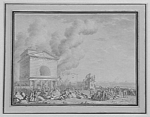 Barrière de la conférence incendiée le 12 juillet 1789