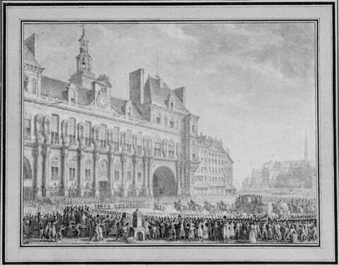 Le Roi arrivant à l'Hôtel de Ville (17 juillet 1789)
