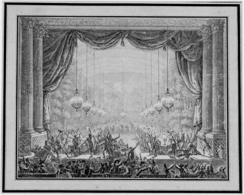Banquet des gardes du corps dans la Salle de l'Opéra de Versailles