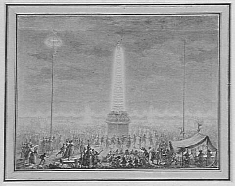 Fêtes et illuminations aux Champs-Elysées (18 juillet 1790)
