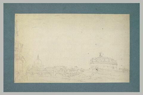 Vue du château Saint-ange et de Saint Pierre de Rome