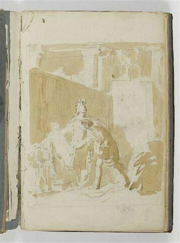 Etude pour une composition avec trois figures, Alexandre, Apelle et Campaspe