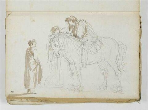 Un cavalier et deux figures