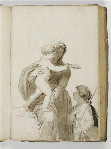 Vierge à l'Enfant et le petit saint Jean