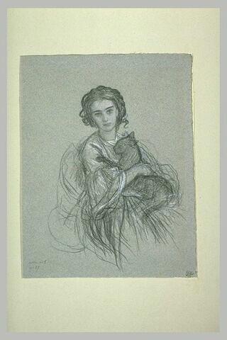 Etude pour le portrait de Mademoiselle Roberty, de Marseille