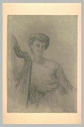 Etude pour le portrait de mademoiselle Gisèle de Lesseps