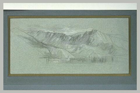 Paysage panoramique de montagne