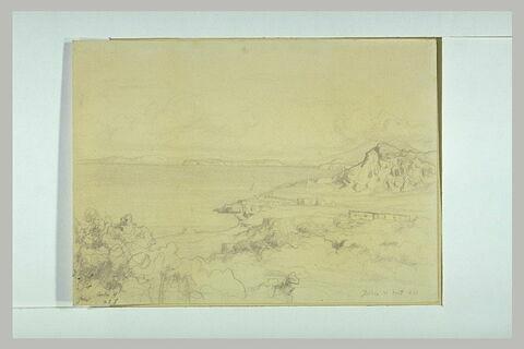 Vue de l'île d'Ischia, le 21 août 1842