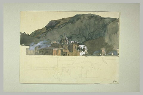 Vue d'un monastère à Ischia