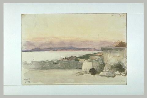 Vue d'Ischia sur le golfe de Naples