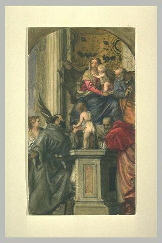 Sainte Famille avec des saints