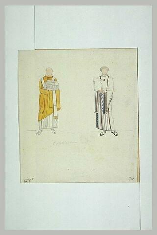 Pascal II et saint Zénon, d'après une mosaïque de l'abside de Sainte-Praxède