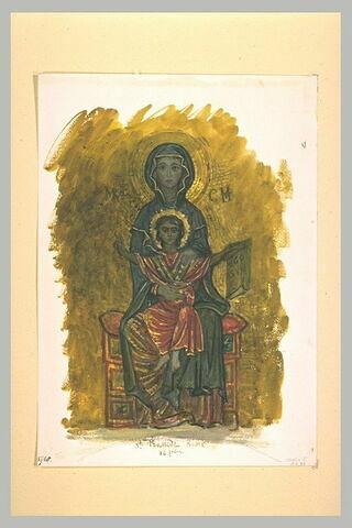 Vierge à l'Enfant, d'après une mosaïque de la chapelle Saint-Zénon
