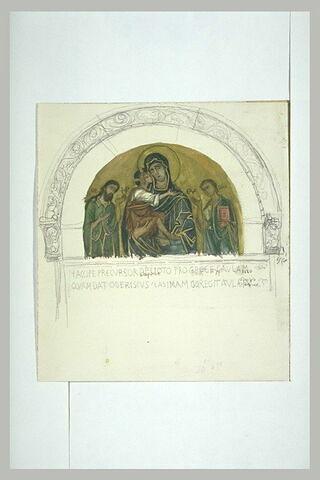 Vierge à l'Enfant avec saint Jean et saint Mathieu