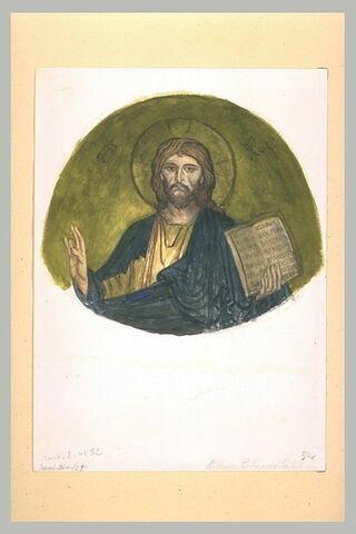 Le Christ, d'après la voûte de l'abside de la chapelle Palatine à Palerme